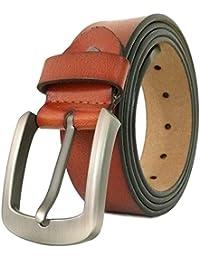 ad2010e2b0d6 JingHao A20 Ceinture pour homme Ceintures en cuir véritable pour Jeans  Grande taille ...