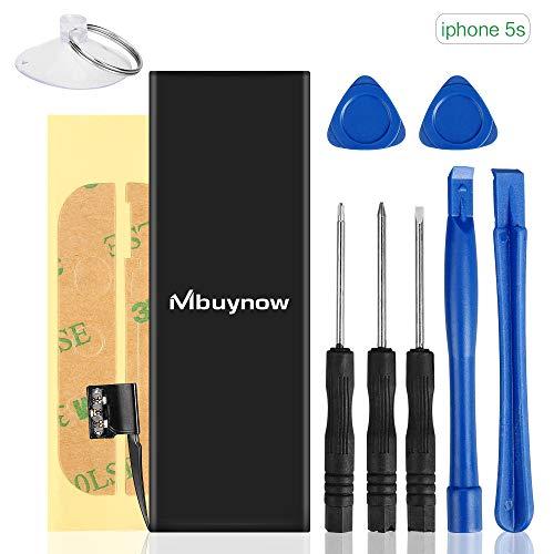 Ersatzakku für iPhone 5s, Mbuynow Akku Austausch Set Li-Polymer Akku für iPhone 5s mit Reparaturset und Anleitungen Hohe Kapazität 1560mAh