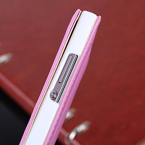 Mate7 Hülle,EVERGREENBUYING - Flip Case Etui Handyhülle Für MT7-TL00 mit Sichtfenster - Aufklappbare Echtes Leder Schutzhülle im Flip Cover Style für Huawei Mate 7 Schwarz Braun