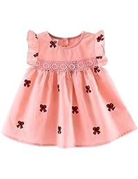 482da69f4 K-youth® Ropa Bebe Niña Verano 2018 Vestido Bebe Niña Chicas Encaje  Volantes Hebilla Calado Vestido de princesa Vestido Niña Ceremonia ...