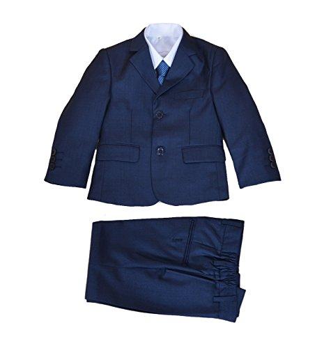 Cinda 5 Stück Blau Boy Anzüge Hochzeit Anzug Junge Seite Partei-Abschlussball -Klagen Blau 122-128
