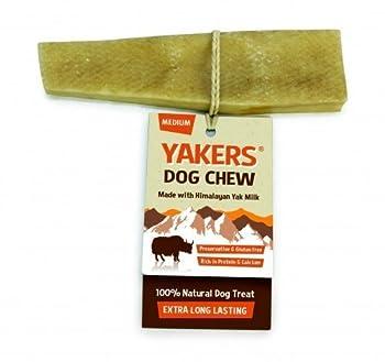 Yakers Chien à mâcher?Medium?Lait de yak Naturel sans gluten pour chien Treat