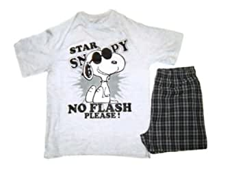 Snoopy Herren Schlafanzug Grau Grau: Amazon.de: Bekleidung