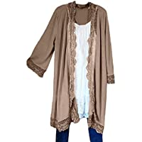 TWBB Damen Trenchcoat,Winter Freizeit Schal Mantel Outwear Elegant Warm Outwear Jacke Strickjacke Coat