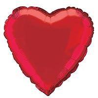 Pallonein alluminio di colore rosso brillante a forma di cuore, saranno ideali per le vostre serate amorose per San Valentino.Questi palloni in alluminio misurno 45 cm.Unique party branding