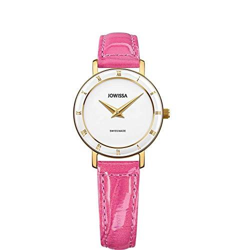 Jowissa Roma Swiss J2.280.S - Reloj de Pulsera para Mujer, Color Blanco, Rosa y Dorado