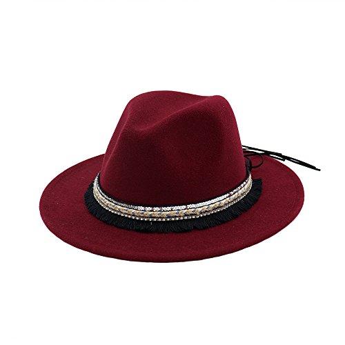 Jazz Trilby Fedora Hüte Damen Mädchen Herbst Winter Filz Hut, Multi-Farbe (Fedora Hut Kind)