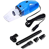 Onshoppy Handheld Car Vacuum Cleaner 120W 12V Portable Wet/Dry Auto Car Vacuum Dust Buster with 16.4FT (5M) Power Cord with Cigarette Lighter, 4000PA Suction High Power Hand Vac (Blue,Black,Orange)