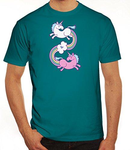 Einhorn Herren T-Shirt mit Unicorns In Love Motiv von ShirtStreet Diva