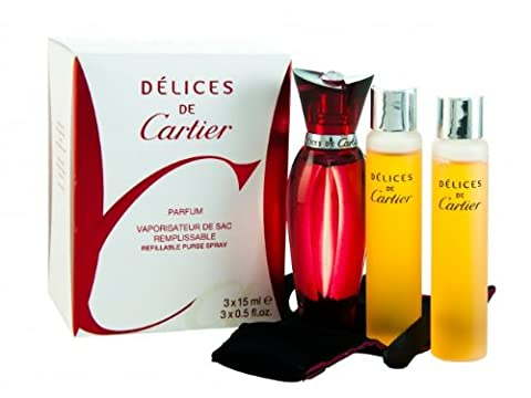 45 ml.Reines Parfum Delices De Cartier 3 x 15