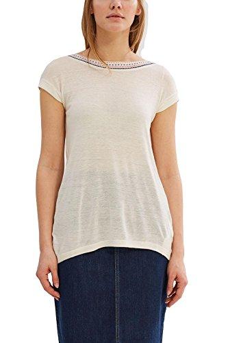 Esprit 037ee1k014, T-Shirt Femme Blanc (Off White)
