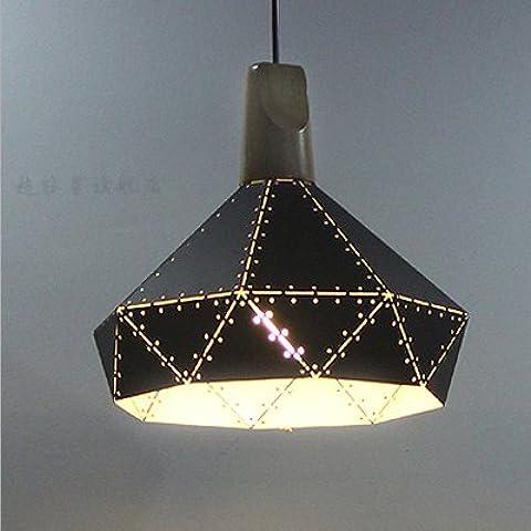 FEI&S retrò post-moderno pin-bar caffetteria ristorante chandelier lampadari neri ristorante la camera da letto in legno massiccio piccolo lampadario,A,con il migliore servizio