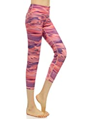 VB Pantalon de sport de yoga l'impression haute élasticité sept points à séchage rapide