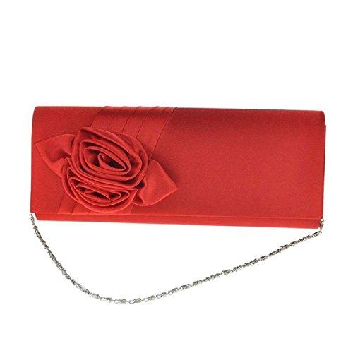 Donne Roses Borsa Elegante Cerimonia Nuziale Del Sacchetto Di Sera Sacchetto Red