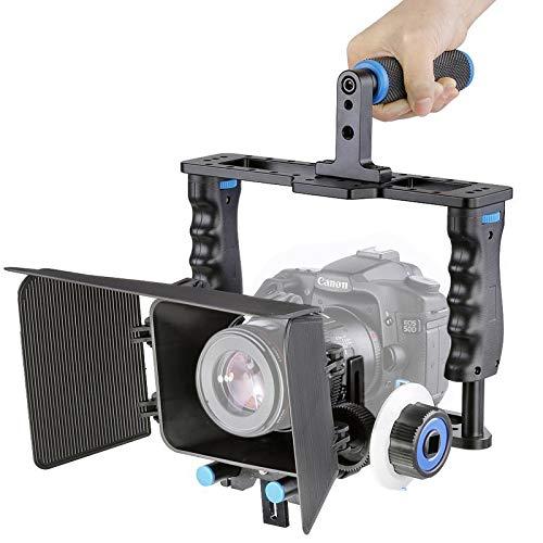 ZHAODONG Cage YLG1103A-B Videokamera mit großem Griff Cage Stabilizer + Matte Box Kit for DSLR-Kamera/Videokamera Matte Box Kit