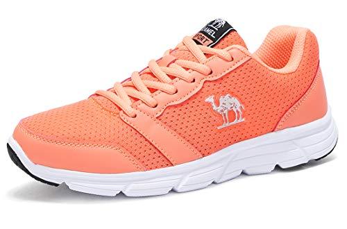 Kurze Crown Caps (CAMEL CROWN Damen Laufschuhe Sportschuhe Atmungsaktiv Mesh Ultraleicht Turnschuhe Fitnessschuhe Sport Gym Jogging)