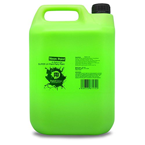 PaintGlow UV Body Splash–Pintura, neón verde 5litros