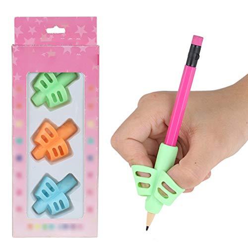 3 piezas mariposa lápiz Grips niños Escritura Escritura