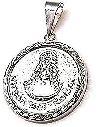 Colgante plata ley 925m 20mm. medalla Virgen Rocío [AA8330]