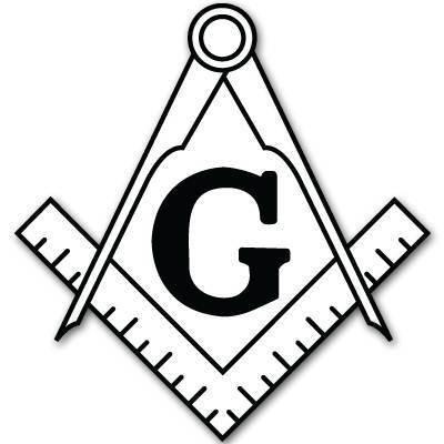 INDIGOS UG Aufkleber Autoaufkleber JDM Die Hart - Free Masons Symbol Bumper Sticker masonic lodge 76mmx127mm 76mmx127mm - Lodge-tür