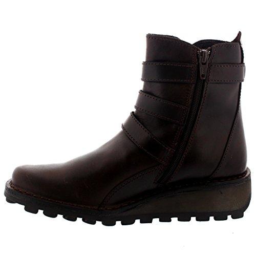 Calcanhar Cunha Baixo Boots Senhoras Preta Fivela Myso Voar Ankle Londres Calcanhar awqwRxZ8Y