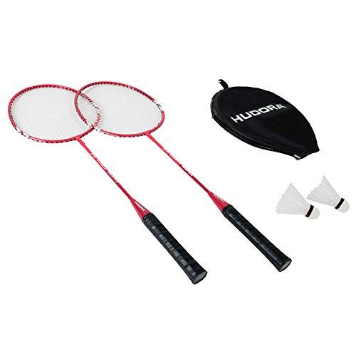 HUDORA Badmintonset No Limit HD-22 2 Schläger und 2 Bälle Federball Federballspiel Schläger