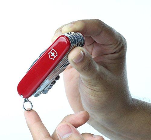 41rCO4bUHNL - Victorinox Taschenwerkzeug Offiziersmesser Swiss Champ Rot Swisschamp Officer's Knife, Red, 91mm