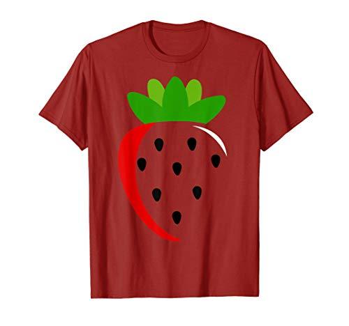 Kostüm Erdbeer Frauen - Große Erdbeere Kostüm Nettes Frucht Halloween Geschenk T-Shirt