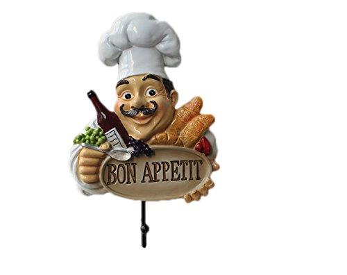 Crochet Mural Vintage Design Decoratif Porte Clés Original Bon appétit Chef Cuisine