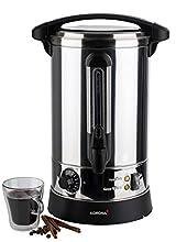 Korona 48001 Cafetière à double paroi en acier inoxydable 1500 W 6,9 l