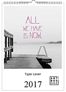 kalender 2017 typographiekalender typo lover a3. Black Bedroom Furniture Sets. Home Design Ideas
