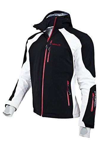 Nebulus Platinum Rockshell Veste de ski homme Noir/Blanc FR : M (Taille Fabricant : M)