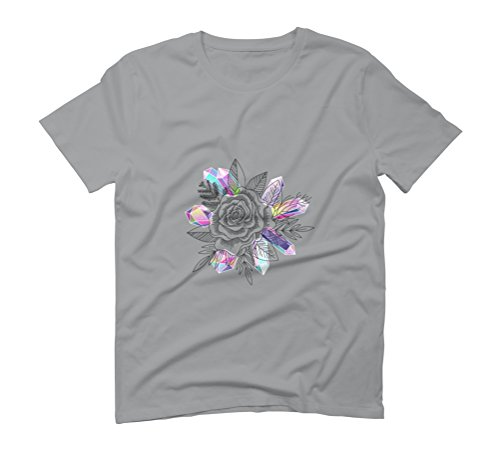 Rose and Crystals Men's Graphic T-Shirt - Design By Humans Opal