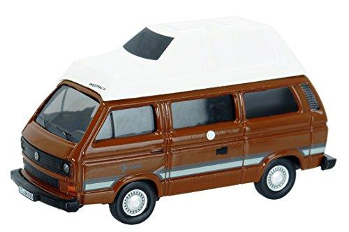 Preisvergleich Produktbild Schuco 452614200 - Volkwagen T3 Camper mit Hohem Camping Dach, Masstab 1:87, Auto Und Verkehrsmodell, Braun