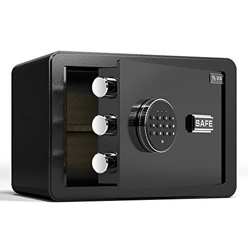 Kotybe safe home 25 centimetri alto di impronte digitali password ufficio tutto acciaio antifurto parete piccolo impronte digitali sicuro (color : black, size : password)