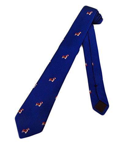 Crew Cuts Boys Spaniel Dog Necktie - Blue - One Size Neck Tie (Seide Blue Tie Dog)