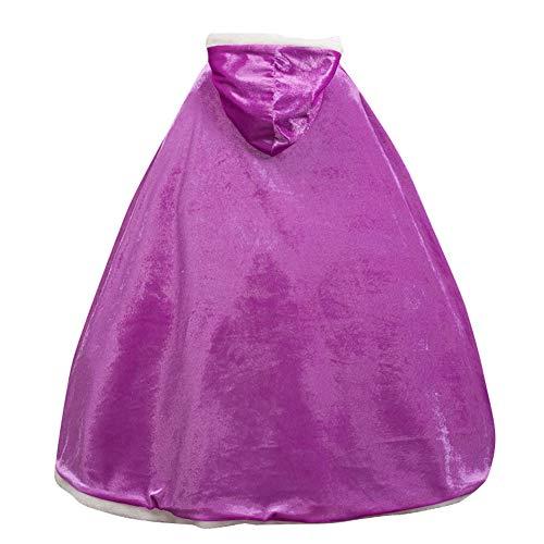 Le SSara Weihnachtsmädchen Prinzessin Cosplay Kostüm Fancy Schmetterling Kleid (110, PJ-Purple)