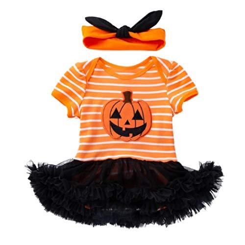 BYSTE_Halloween Tutine e Body Neonato,Costume Carnevale Bambina,Bambino Pagliaccetto in Cotone Ragazze Ragazzi Pigiama Neonato Tutina Fumetto Outfits,3 Mesi,Giallo