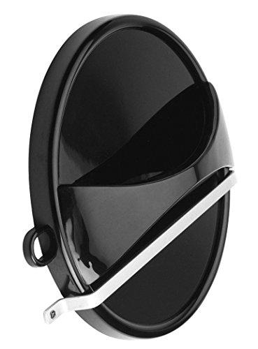 Specchio a mano efalock con supporto a parete, nero, 1er pack (1x 1pezzi)