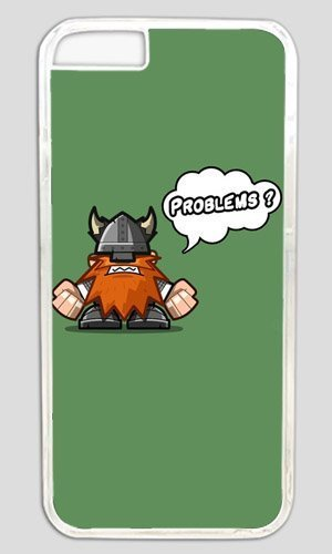 Funny Angry Viking Thanksgiving Halloween Masterpiece Limited Design PC Transparent Case for iphone 6 by Cases & (Halloween Viking)