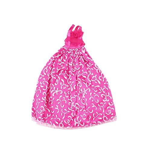 5pcs handgemachte Prinzessin Party Kleid Kleider Kleidung 10 Schuhe für Barbie-Puppe (Farbe: Multicolor)