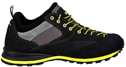 GUGGEN Mountain PT022 Herren Wanderschuhe Trekkingschuhe Outdoorschuhe Wanderstiefel Walkingschuhe Wasserdicht mit Membran und Wildleder Schwarz-Gelb
