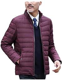 GKKXUE Piumino Leggero Invernale Giacca in Cotone Caldo di Mezza età da Uomo  Cappotto Corto Invernale f7a32d4a38e