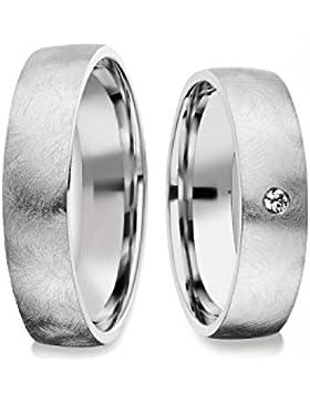 Eheringe Verlobungsringe Trauringe Freundschaftsringe Silber 925 *GRATIS Luxusetui* AMOONIC mit SWAROVSKI Zirkonia...