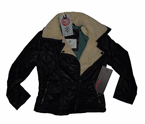 Reset Kinder Mädchen Winterjacke Kids Blouson Fliegerjacke Jacke in schwarz Gr. 128