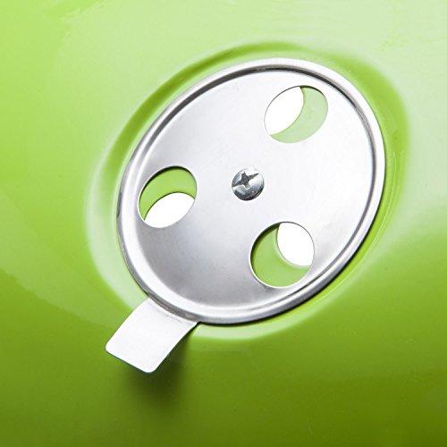 41rCTod759L - Goods & Gadgets Micro BBQ Kugelgrill kompakter Reise Holzkohle-Grill Tischgrill Edelstahl emailliert 38cm - Grün