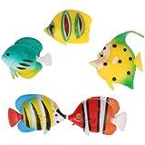 9er set bunte ersatzfische und bunte ersatztiere for Deko fische plastik