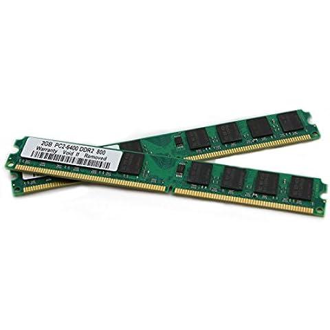 4GB 2x 2GB Memoria RAM DDR2800mhz per Asus AT4NM10T-I at5nm10-i