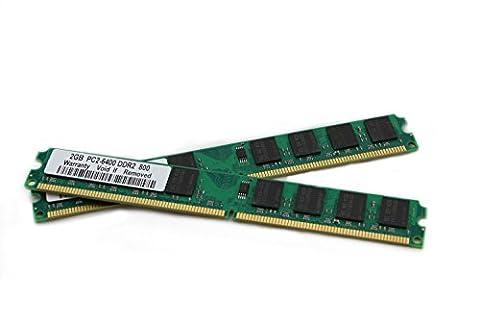 Mémoire RAM 4Go 2x 2Go DDR2800Mhz Pour Asus Striker II Formula T3-m3N8200AH1T3