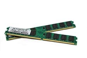 Mémoire RAM 4Go 2x 2Go DDR2800Mhz Pour Acer Aspire T180-be5000a ss320m, X1200, X1200